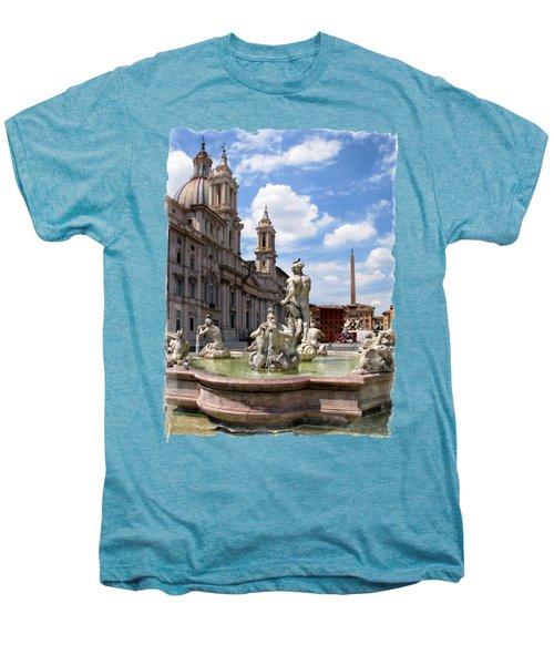 Fontana Del Moro.rome Men's Premium T-Shirt by Jennie Breeze