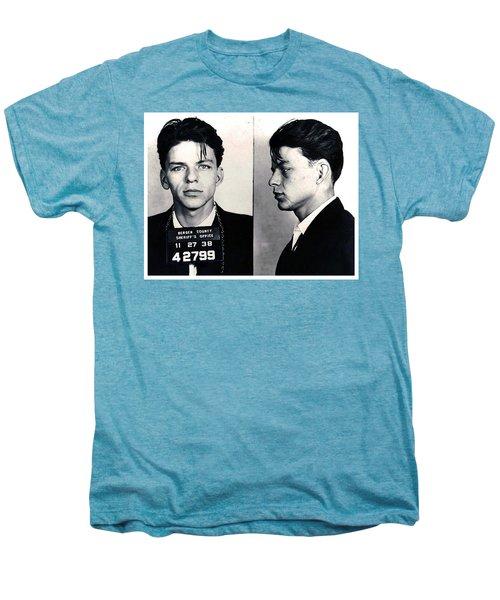 Frank Sinatra Mug Shot Horizontal Men's Premium T-Shirt by Tony Rubino