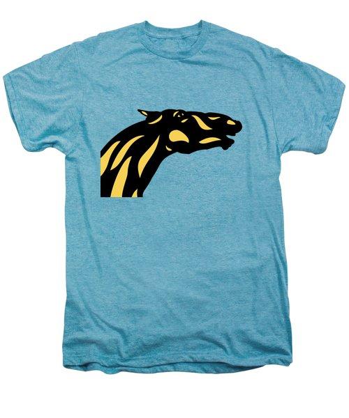Fred - Pop Art Horse - Black, Primrose Yellow, Hazelnut Men's Premium T-Shirt by Manuel Sueess