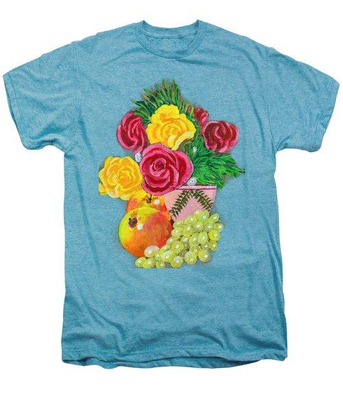 Fruit Petals Men's Premium T-Shirt by Joe Leist -digitally mastered by- Erich Grant