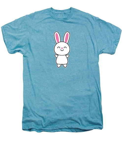 Funny Cute Rabbit Bunny In Pink Men's Premium T-Shirt by Philipp Rietz