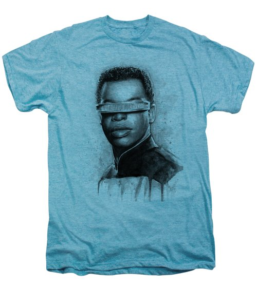 Geordi La Forge - Star Trek Art Men's Premium T-Shirt by Olga Shvartsur