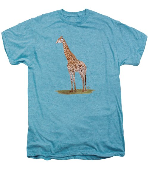 Giraffe Men's Premium T-Shirt by Angeles M Pomata