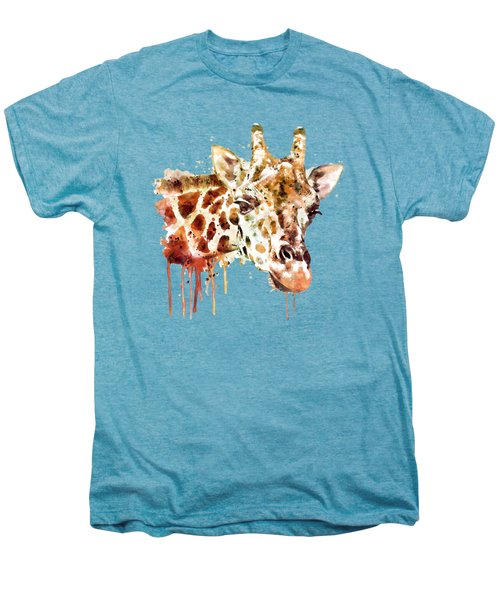 Giraffe Head Men's Premium T-Shirt by Marian Voicu