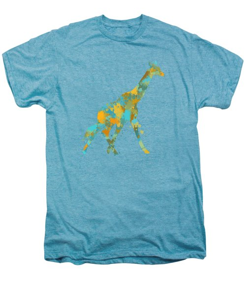 Giraffe Watercolor Art Men's Premium T-Shirt by Christina Rollo