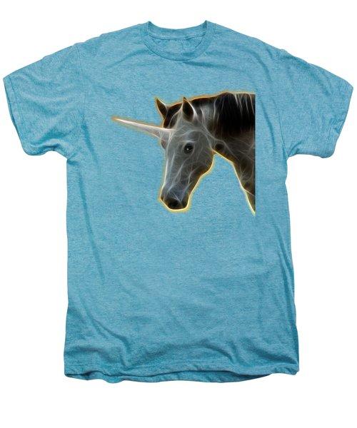 Glowing Unicorn Men's Premium T-Shirt by Shane Bechler