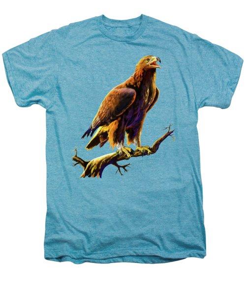 Golden Eagle Men's Premium T-Shirt by Anthony Mwangi