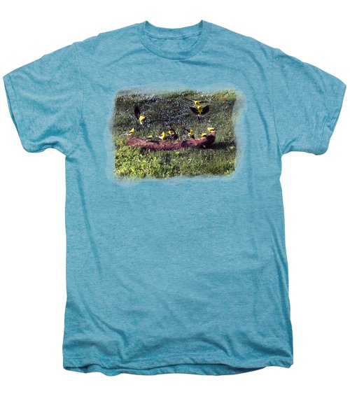 Goldfinch Convention Men's Premium T-Shirt by Nick Kloepping
