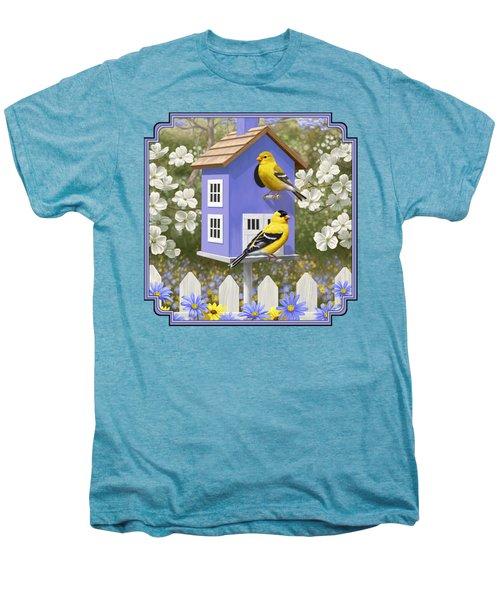 Goldfinch Garden Home Men's Premium T-Shirt by Crista Forest