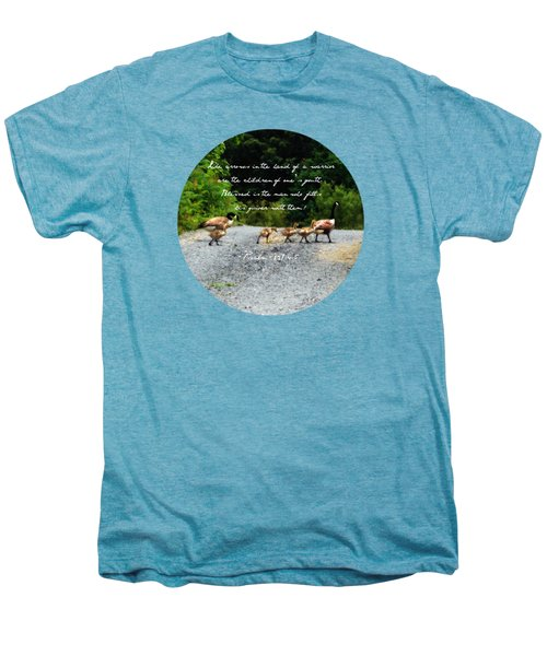 Goose Family - Verse Men's Premium T-Shirt by Anita Faye