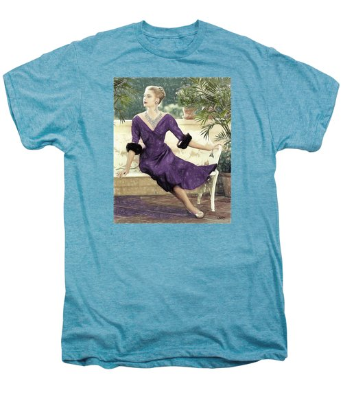 Grace Kelly Draw Men's Premium T-Shirt by Quim Abella