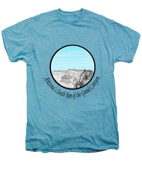Grand Canyon - South Rim Men's Premium T-Shirt by James Lewis Hamilton
