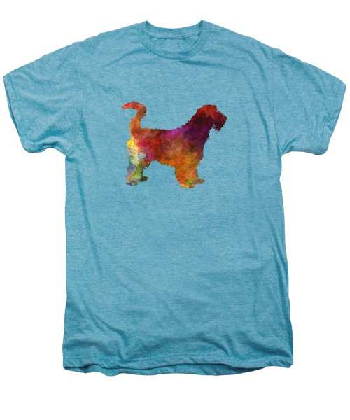 Grand Griffon Vendeen In Watercolor Men's Premium T-Shirt by Pablo Romero