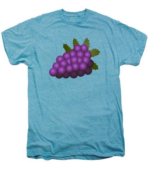 Grapes Fruit Men's Premium T-Shirt by Miroslav Nemecek
