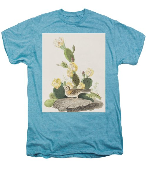 Grass Finch Or Bay Winged Bunting Men's Premium T-Shirt by John James Audubon