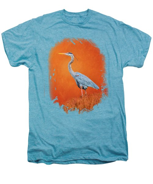 Great Blue Abstract 2 Men's Premium T-Shirt by John M Bailey