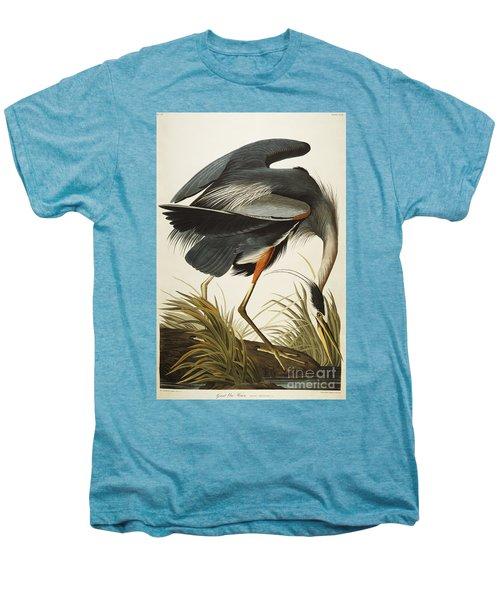 Great Blue Heron Men's Premium T-Shirt by John James Audubon