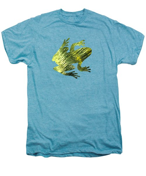 Green Abstract Water Reflection Men's Premium T-Shirt by Christina Rollo
