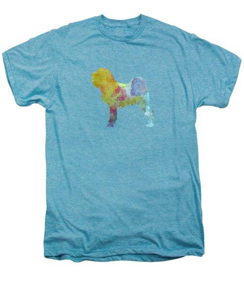 Griffon Belge In Watercolor Men's Premium T-Shirt by Pablo Romero