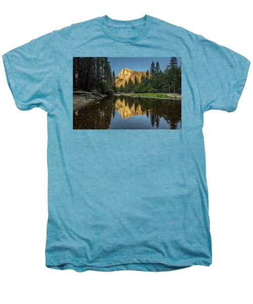 Half Dome From  The Merced Men's Premium T-Shirt by Peter Tellone