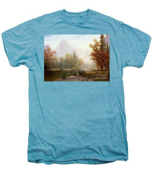 Half Dome Yosemite Men's Premium T-Shirt by Albert Bierstadt