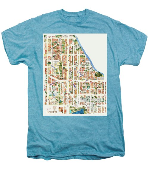 Harlem From 110-155th Streets Men's Premium T-Shirt by Afinelyne