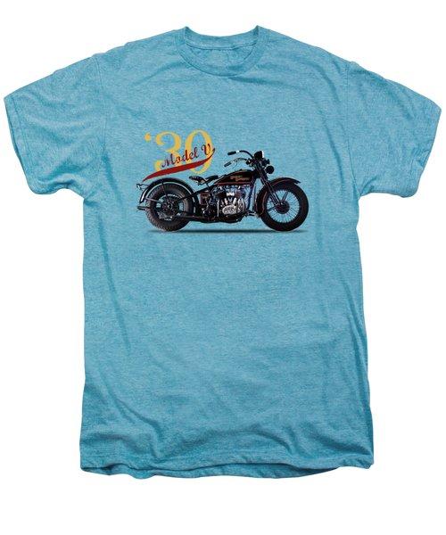Harley-davidson Model V 1930 Men's Premium T-Shirt by Mark Rogan