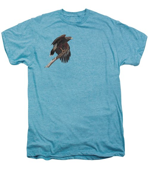 Harris Hawk - Transparent 2 Men's Premium T-Shirt by Nikolyn McDonald