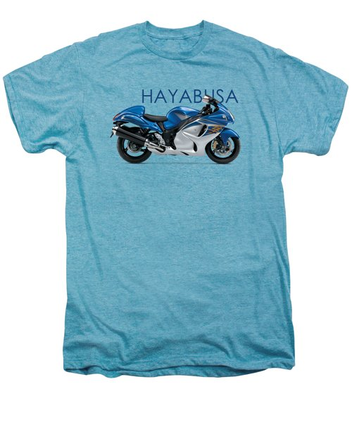 Hayabusa In Blue Men's Premium T-Shirt by Mark Rogan