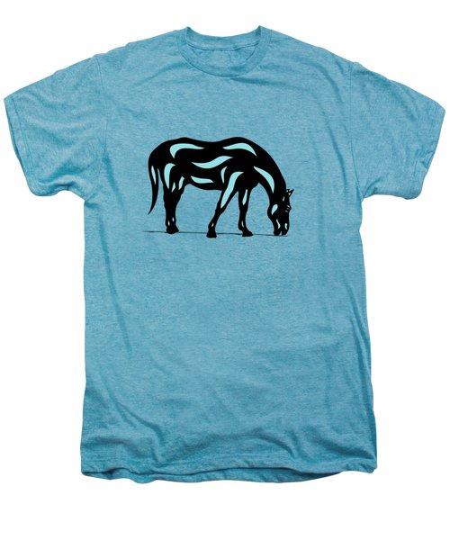 Hazel - Pop Art Horse - Black, Island Paradise Blue, Hazelnut Men's Premium T-Shirt by Manuel Sueess