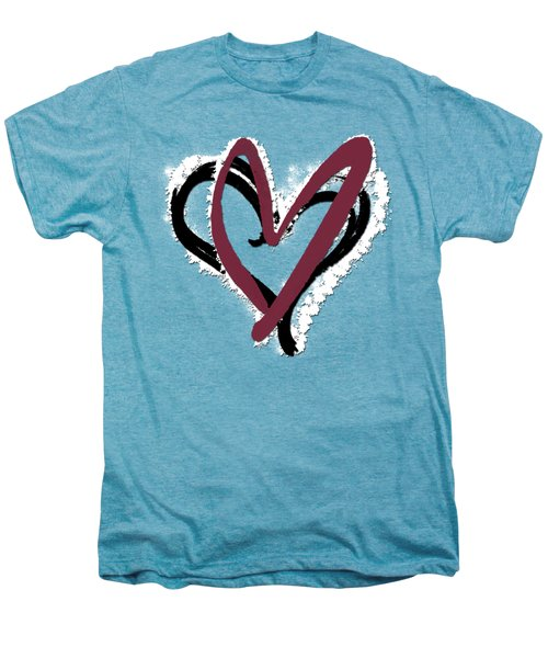 Hearts Graphic 6 Men's Premium T-Shirt by Melissa Smith