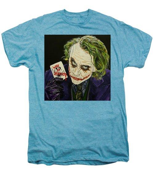 Heath Ledger The Joker Men's Premium T-Shirt by David Peninger