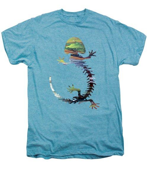 Hellbender Skeleton Men's Premium T-Shirt by Mordax Furittus