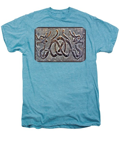 Hidden Dragon Men's Premium T-Shirt by Ethna Gillespie