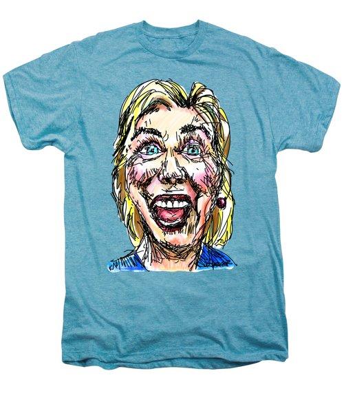 Hillary Men's Premium T-Shirt by Robert Yaeger