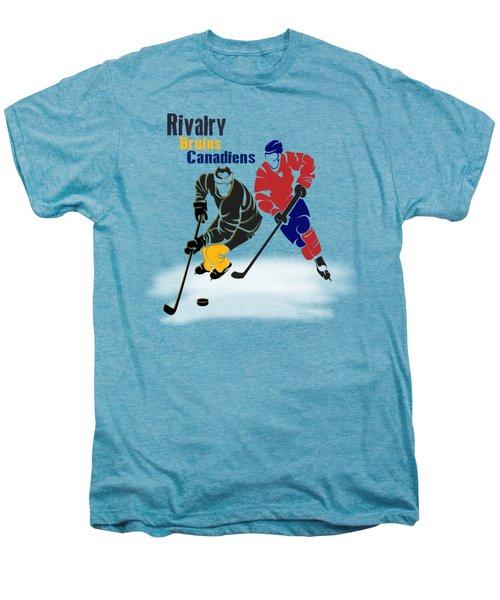 Hockey Rivalry Bruins Canadiens Shirt Men's Premium T-Shirt by Joe Hamilton