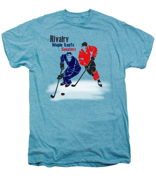 Hockey Rivalry Maple Leafs Senators Shirt Men's Premium T-Shirt by Joe Hamilton