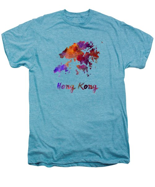 Hong Kong In Watercolor Men's Premium T-Shirt by Pablo Romero