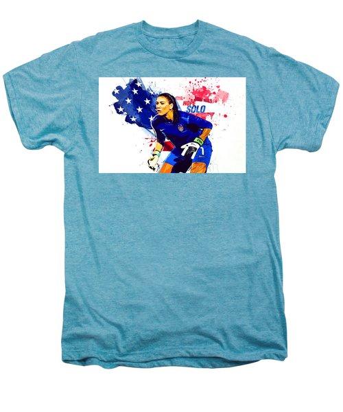 Hope Solo Men's Premium T-Shirt by Semih Yurdabak