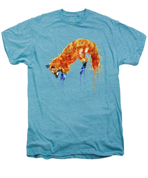 Hunting Fox  Men's Premium T-Shirt by Marian Voicu