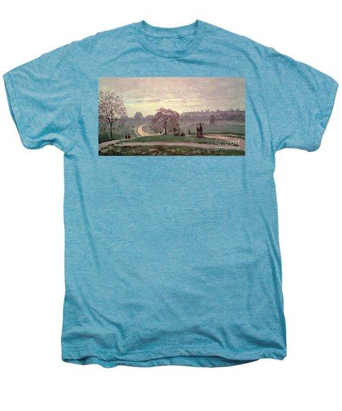 Hyde Park Men's Premium T-Shirt by Claude Monet