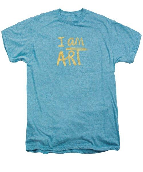 I Am Art Gold - Art By Linda Woods Men's Premium T-Shirt by Linda Woods