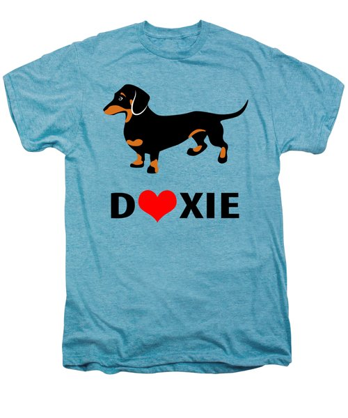 I Love My Doxie Men's Premium T-Shirt by Antique Images