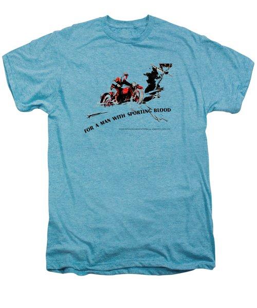 Indian Motorcycle - Sporting Blood 1930 Men's Premium T-Shirt by Mark Rogan