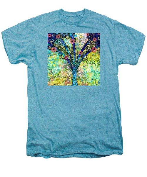 Inspirational Art - Absolute Joy - Sharon Cummings Men's Premium T-Shirt by Sharon Cummings