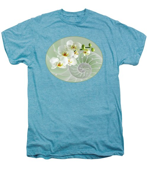 Intimate Fusion In Cool Green Men's Premium T-Shirt by Gill Billington