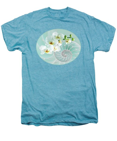 Intimate Fusion In Turquoise Men's Premium T-Shirt by Gill Billington