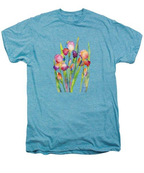 Iris Elegance Men's Premium T-Shirt by Hailey E Herrera