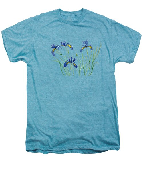 Iris In Japanese Style Men's Premium T-Shirt by Color Color