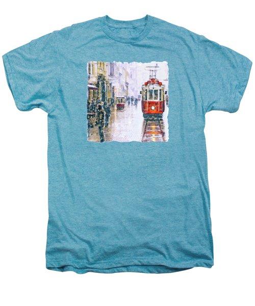 Istanbul Nostalgic Tramway Men's Premium T-Shirt by Marian Voicu
